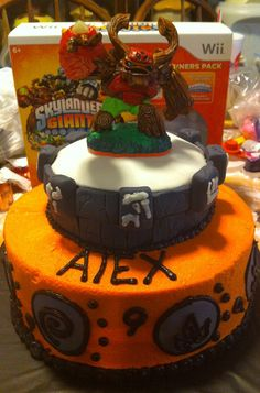 Skylanders giants cake omg we need to make Lil Nathaniel a cake skylanders cake for his bday!! He would love it!