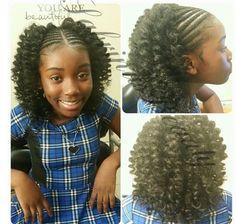 Crochet braids with Jamaican bounce hair