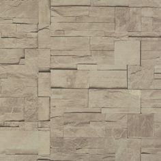 Walls Republic Modern Block Faux Trompe L'oeil x Stone Wallpaper Color: Beige Wallpaper Color, Faux Brick Wallpaper, Stone Wallpaper, New Wallpaper, Pattern Wallpaper, Special Wallpaper, Shops, Latest Wallpapers, Contemporary Wallpaper