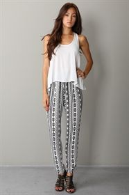 Show details for Printed Chiffon Pants
