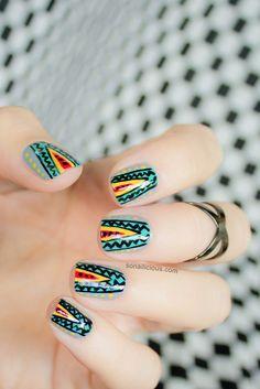 Tribal nails - Missoni inspired for Australian Fashion Week.  Love this unique tribal pattern xx