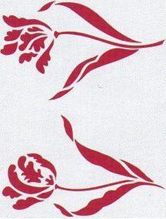 Stencil plantillas flores - Imagui