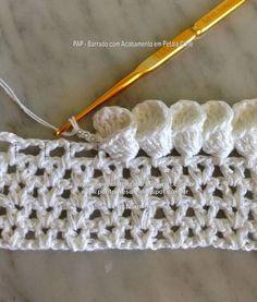 Hobby lavori femminili - ricamo - uncinetto - maglia  bordura uncinetto  Bordi All uncinetto 9df1360aa5be