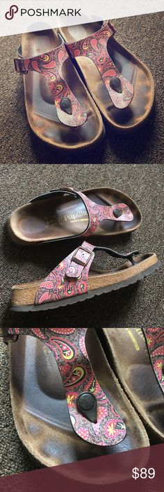 Paisley Birkenstocks Lightly worn.  Authentic Birkenstocks with a pretty paisley print. Birkenstock Shoes Sandals