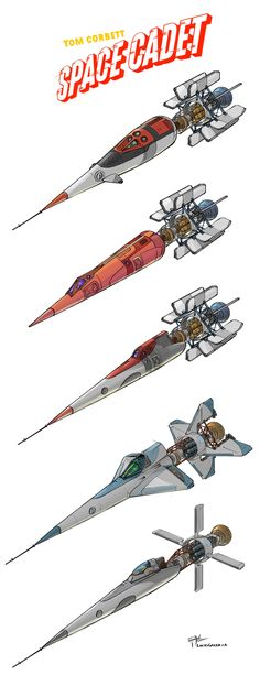 TOM CORBETT: SPACE CADET concept ships by Lucas Green