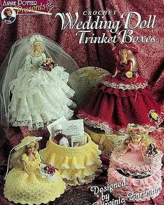 Crochet Wedding Doll Trinket Boxes Patterns