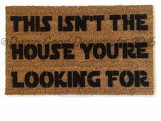 Star Wars Go away you should™ yoda funny nerdy doormat rude door mat gifts for geeks doormatt new house gift Cool Doormats, Funny Doormats, Funny Welcome Mat, Welcome Mats, Geek Meme, Yoda Funny, Printable Gift Cards, Nerd Humor, Obi Wan