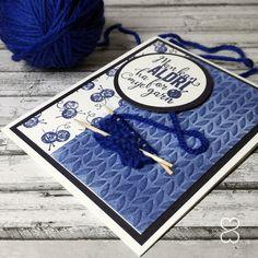Scrappiness: Kort til ei som er glad i å strikke...