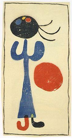 Joan Miró woodcut from Eluard's book of poems A toute épreuve (1958)