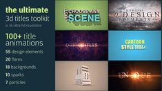 Download here http://videohive.net/item/ultimate-3d-titles-toolkit/12617556?ref=TanyaMS