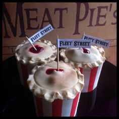 You could have our Sweeney Todd inspired cupcakes from The Little Shindig Company, for your Halloween party!