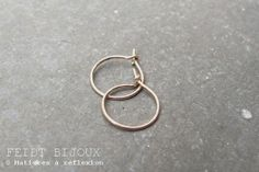 Précieux @ www.matieresareflexion.com  #Feidt #Bijoux #Femme #OrRose #Creoles #Accessoires