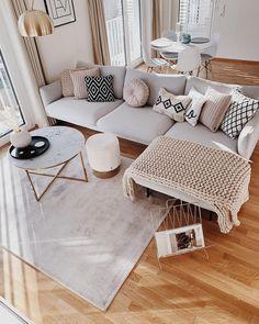 Boho Living Room, Home And Living, Living Place, Living Room Decor Inspiration, Apartment Living, Chic Apartment Decor, Apartment Ideas, Home Interior Design, Ikea Interior