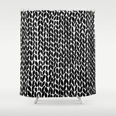 Hand Knitted Black S Shower Curtain $68 society6