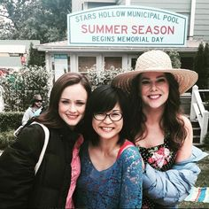"""Gilmore Girls Cast FINALLY Shares The Set Photos It Was Hiding From Us #refinery29  http://www.refinery29.com/2016/11/131054/gilmore-girls-revival-cast-behind-the-scenes-photos-instagram#slide-6  """"I love these ladies,"""" Keiko Agena, a.k.a. Lane, simply captioned this photo of her surrounded by the titular Gilmore girls in the """"Summer"""" installment of the revival. (Spoiler alert: there is a pool involved.)..."""