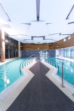 Balaruc-les-Bains thermal baths in  France by DHA Architectes - done with swimming pool ceramics by AGROB BUCHTAL