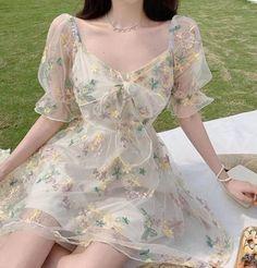Cute Casual Outfits, Pretty Outfits, Pretty Dresses, Beautiful Dresses, Gorgeous Dress, Dress Casual, Fairytale Dress, Fairy Dress, Look Fashion