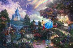 Quadros inspirados na Disney por Thomas Kinkade   http://nathaliakalil.com.br/quadros-inspirados-na-disney-por-thomas-kinkade/