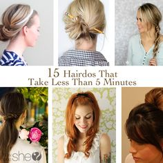 15 Hairdos That Take Less Than 5 Minutes