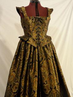 Elizabethan Renaissance Gown Dress Costume by CourtlyClothier, $200.00