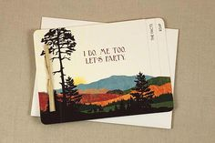 Fall Mt Washington 3pg Booklet Elopement Announcement with
