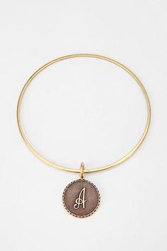 Initial Bangle Bracelet Online Only