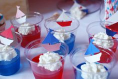 The Love Boat Jello The Love Boat Guest Dessert Feature Retirement Parties, 1st Birthday Parties, Boy Birthday, Birthday Ideas, Sailor Baby Showers, Baby Boy Shower, Sailor Theme, Sailor Party, Nautical Party