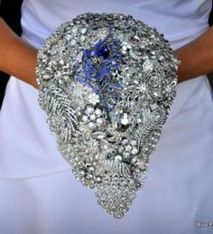 Diamond Falls Brooch Bouquet