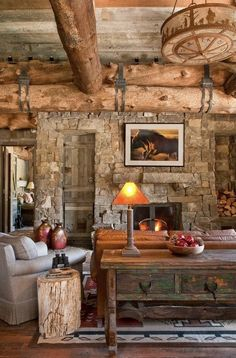 47 Extremely cozy and rustic cabin style living rooms … - Cabin Decor Rustic Design, Diy Design, Rustic Decor, Design Ideas, Interior Design, Rustic Room, Rustic Style, Rustic Chic, Design Trends