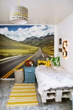 mommo design: BOYS ROOMS love the idea of a big wall mural Kids Bedroom, Bedroom Decor, Kids Rooms, Bedroom Ideas, Deco Kids, Deco Design, Project Nursery, Kid Spaces, Kids Decor