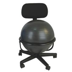 "CanDo® Ball Chair - Metal - Mobile - with Back - no Arms - with 18"" Ball CanDo® metal ball chair includes a 45 cm inflatable #exercise #ball and #chair #base. The mobile ergonomic seating systems combine the benefits of ball #therapy with the convenience of a chair base. Ball held securely in place by the base. Casters glide on carpet or hard surfaces."