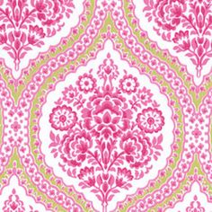 """""""Pierre, Confection""""  44"""" wide 100% Combed Cotton  A beautiful larger scale floral medallion by Swirly Girls Design produced by Michael Miller."""