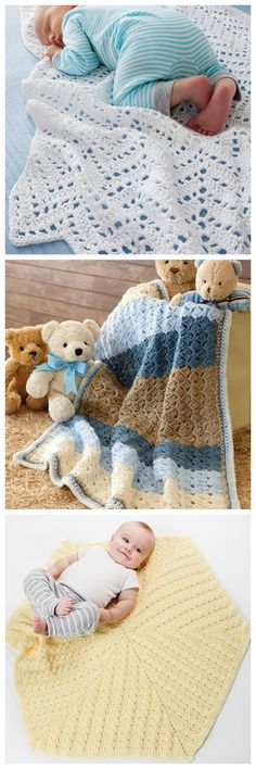 Baby afghan crochet patterns from In a Weekend: Baby Afghans pattern book from Annie's Craft Store. Order here: https://www.anniescatalog.com/detail.html?prod_id=131387&cat_id=468