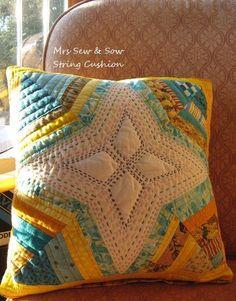 Spider Web Block Pillow: