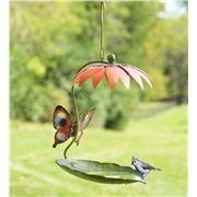 Butterflies and Flowers Metal Accent in Metal Yard Sculpture