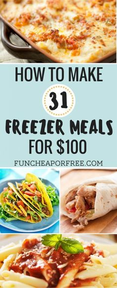 Affordable Meals for Cooking Quick budget recipes .- Affordable Meals for Cooking Quick budget recipes Cheap dinner suggestions 2 … - Freezer Friendly Meals, Budget Freezer Meals, Make Ahead Freezer Meals, Freezer Cooking, Frugal Meals, Cheap Meals, Easy Meals, Cooking Recipes, Budget Recipes