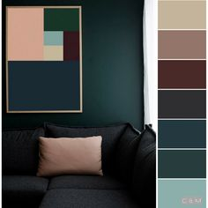 New Screen Color Schemes for office Suggestions Most of us see the basics associated with the color wheel: coming from most important along with sup Blue Gray Paint Colors, Greige Paint Colors, Interior Paint Colors, Paint Color Schemes, Bedroom Color Schemes, Colour Pallete, Color Harmony, Color Balance, Room Colors