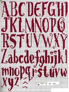 font cross stitch alphabet chart very Harry Potter looking
