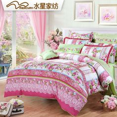 MERCURY Home Textile European StyleIsabel bedding set with 4 pcs 100% cotton bed sheet bed spread duvet cover,High Quality bedding set hello kitty,China set safe Suppliers, Cheap bedding fabric from MERCURY Home Textile Official Store on Aliexpress.com