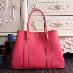 8b5b1d27c4f Garden Party 36 30 Tote Bag in Imported Togo Leather Hot Pink Hermes Lindy  Bag,