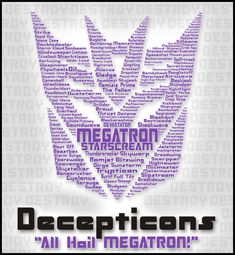 Decepticons rise up!