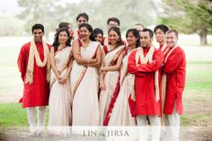 Fun bridal party! Image courtesy by Lin and Jirsa Photography | Discover more images at www.shaadibelles.com #wedding #southasian #indian Indian Bridal Party, Asian, Fun, Image, Photography, Wedding, Dresses, Valentines Day Weddings, Vestidos