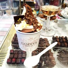 A tub of Godiva Soft Ice Cream via @jemmalouise