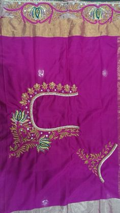 Lotus motif embroidery for blouses !