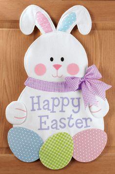 Happy Easter Hanging Bunny Eggs Door Decor