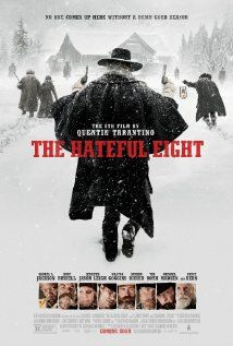 The Hateful Eight (2015) R  |  187 min  |  Comedy ?, Drama, Mystery  |  30 December 2015  ~~~~In the dead of a Wyoming winter, a bounty hunter and his prisoner find shelter in a cabin currently inhabited by a collection of nefarious characters. Stars: Samuel L. Jackson, Kurt Russell, Jennifer Jason, Demián Bichir,Tim Roth, Oswaldo Mobray, Michael Madsen, Bruce Dern, James Parks and Zoë Bell. ITS A HEAD SHAKER!