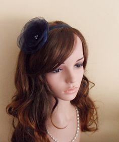 14,-  //  Haarreif night blue  Fascinator Haarblume von Cosara auf DaWanda.com