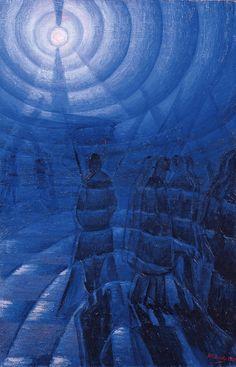 """Solidity of Fog"" (1912) Luigi Russolo [Guggenheim]"