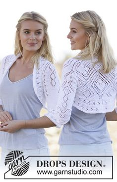 DROPS square knitted bolero with lace pattern in Safran. Free knitting pattern by DROPS Design. Shrug Knitting Pattern, Lace Knitting, Knitting Patterns Free, Knit Crochet, Free Pattern, Lace Shrug, Knit Shrug, Drops Design, Shrugs And Boleros