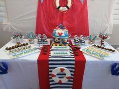 Mickey Mouse Nautical marinero table decor